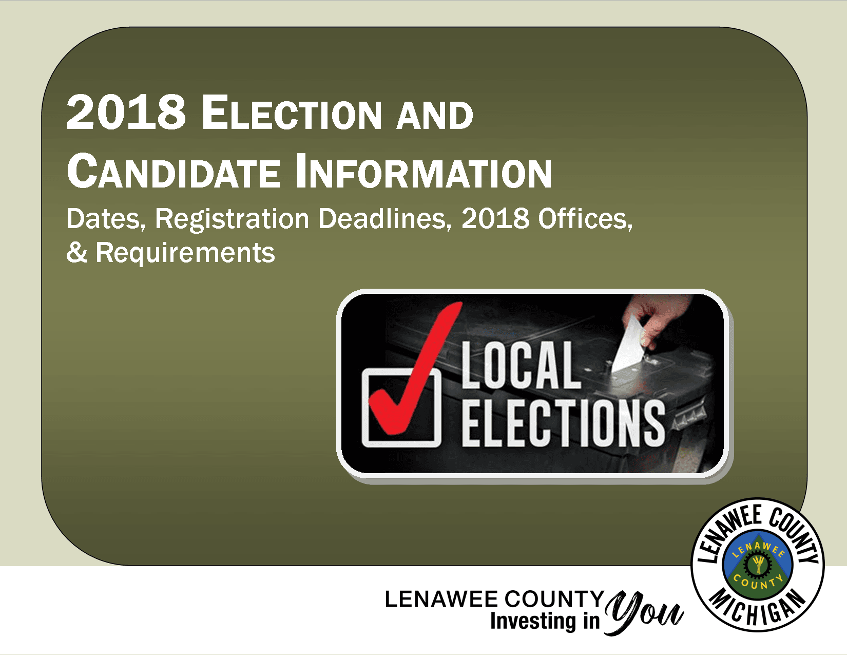 2018 Election Info