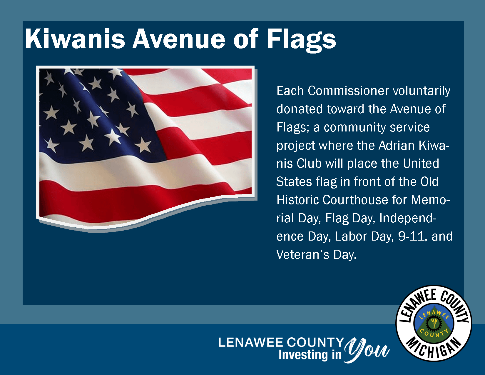 Kiwanis Flag Project