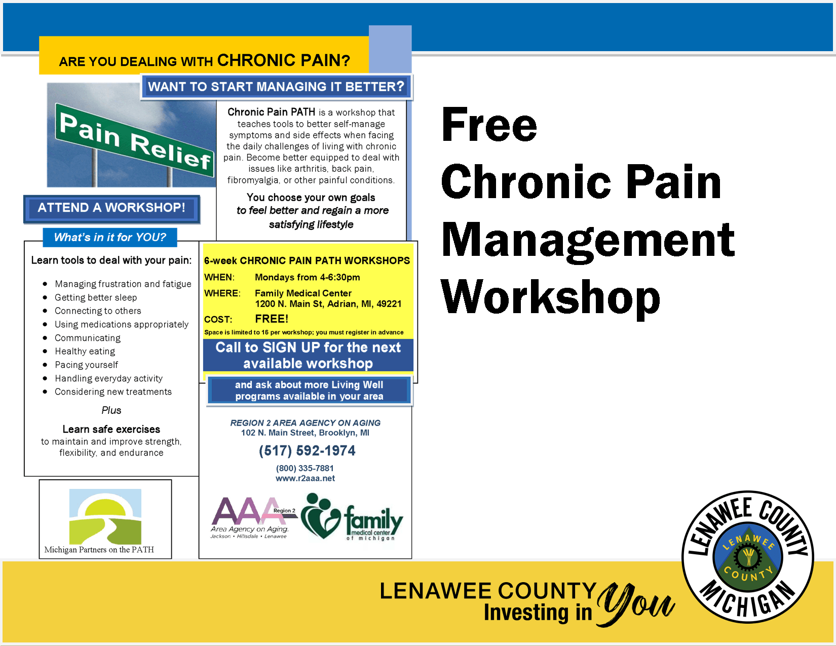 Chronic Pain Managment workshop Flyer