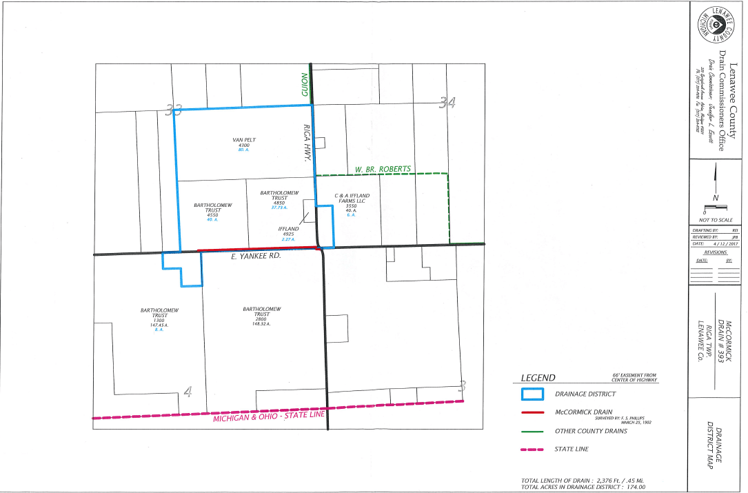 McCormick Drain District Map