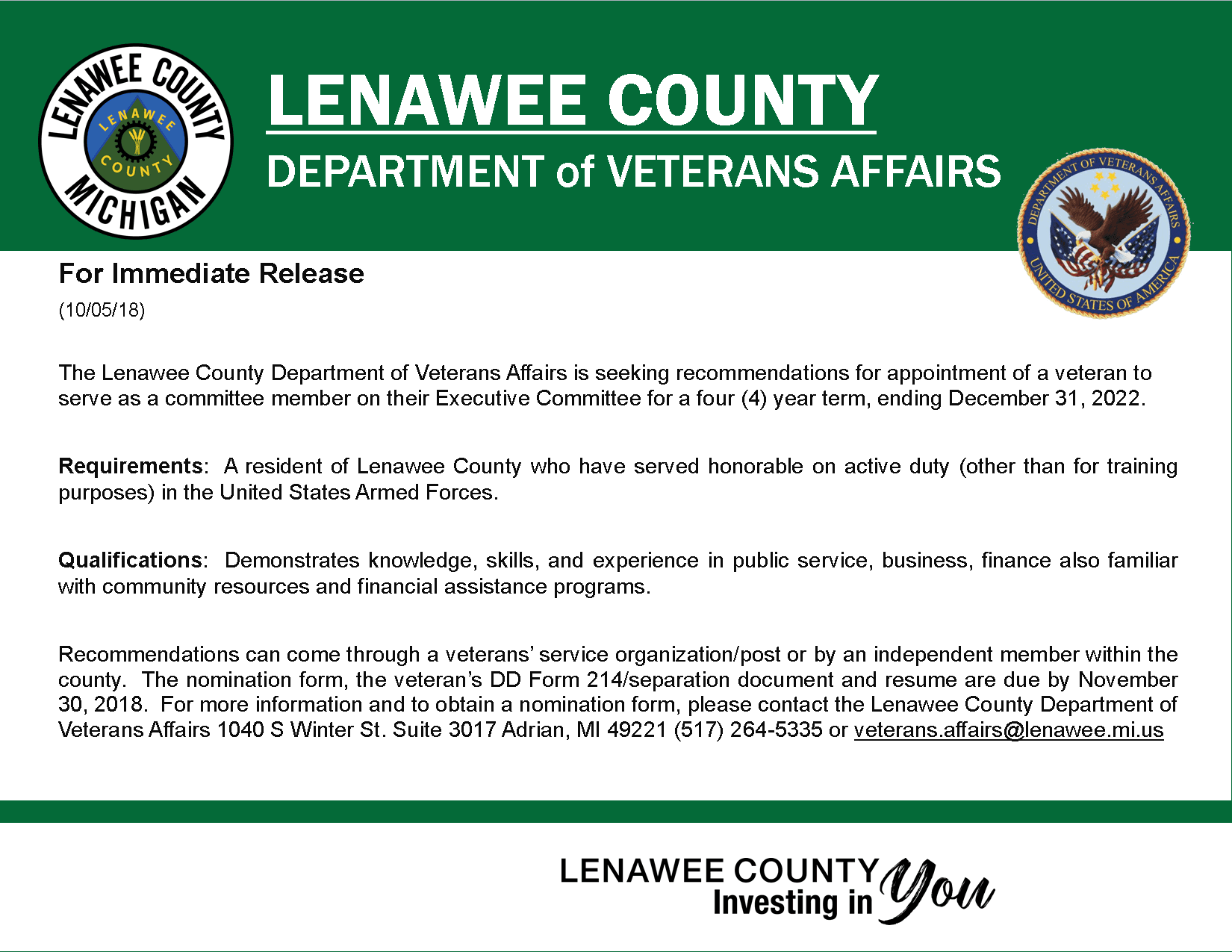VA Board Appt Notice