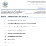 Agenda for Retirement Administrative Review