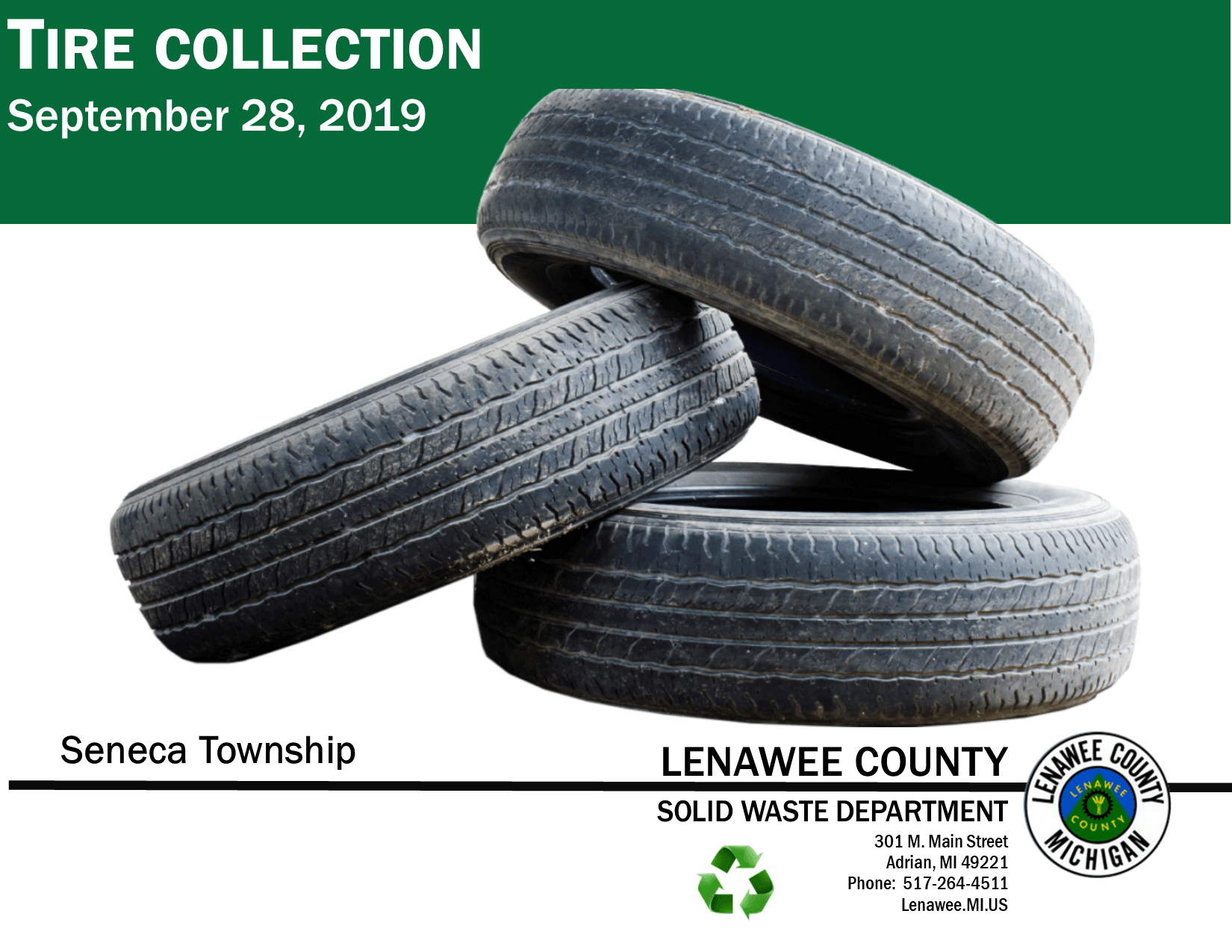 Seneca Tire collection event