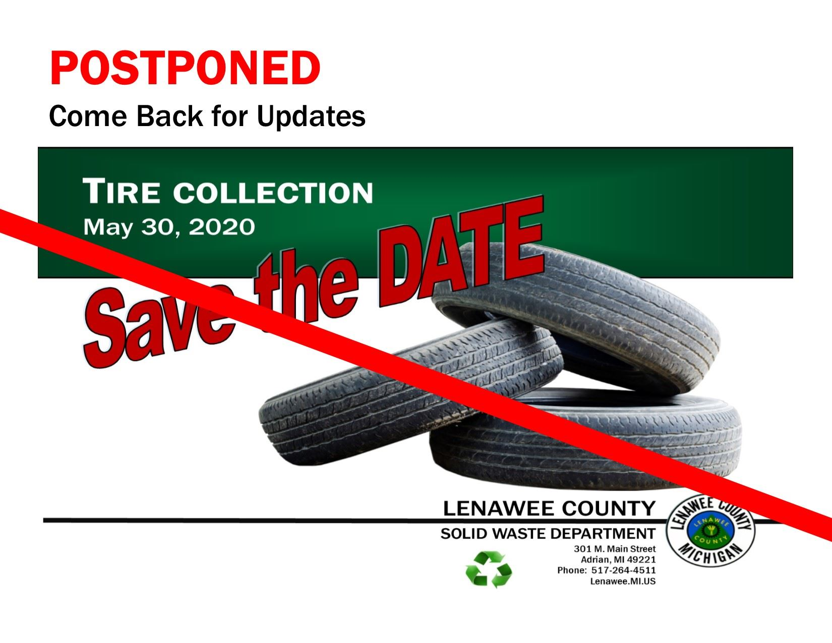 Tire Collection Postponed