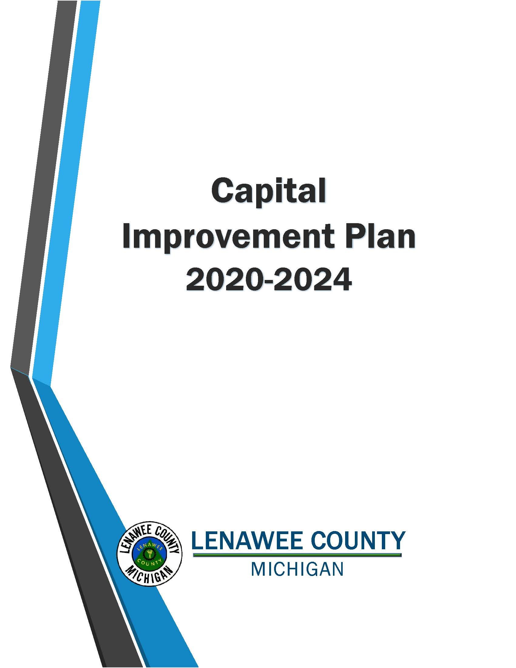 Title Page of the Capital Improvement Plan 2020