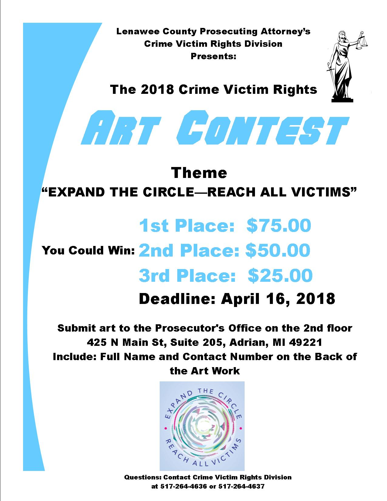 Victims Rights Art Contest Flyer2018