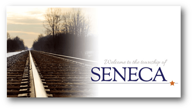 Seneca Township website header train tracks