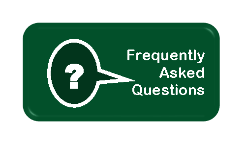 Question mark in thought bubble FAQ button