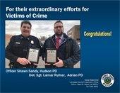 Officer Sandy & Det/Sgt Rufner