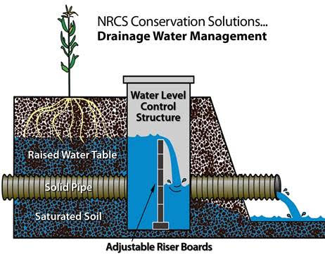 Diagram of drainage water management